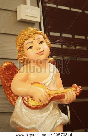 Statue Of Jesus As A Child In The Church.