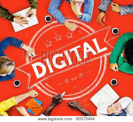 Digital Technology Modern Devices Electronics Concept