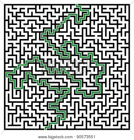 Black Square Maze (32X32) With Help