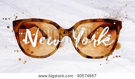 Watercolor glasses New York
