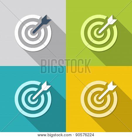 Flat Dartboards Backgrounds
