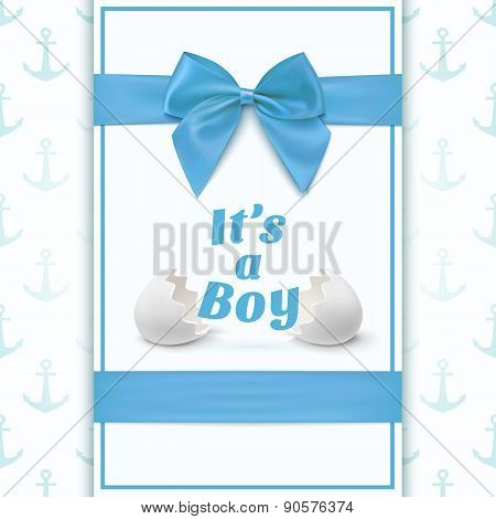 Its a boy. Template for baby shower.