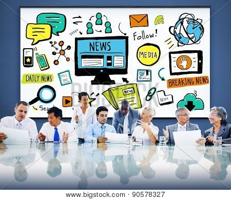 News Article Advertisement Publication Media Journalism Concept