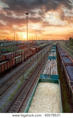 Cargo Trains In Hdr