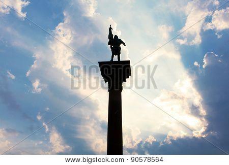 Sunlight Illuminating Monument