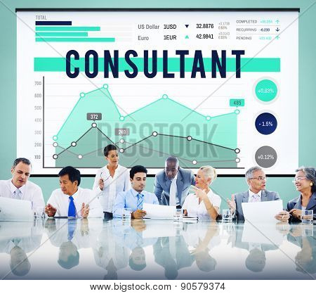 Consultant Assistant Counselors Business Improvement Analysis Concept