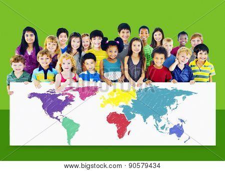 World Map Global International Globalisation Concept