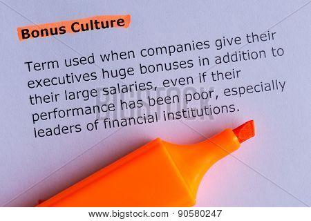 Bonus Culture