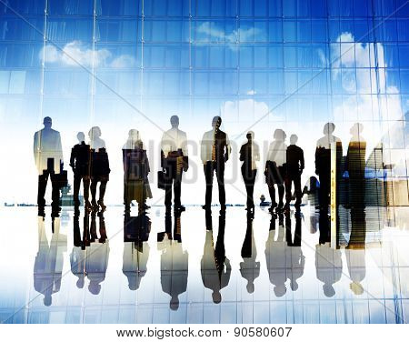 Business People Vision Aspiration Goals Corporate City Concept