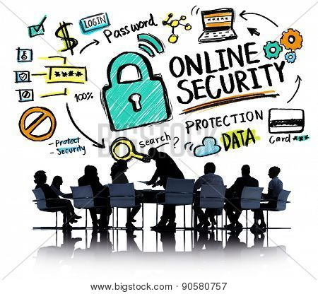Online Security Protection Internet Safety Business Meeting Concept