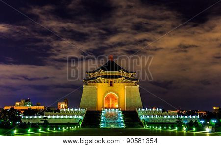 Chiang Kai-shek Memorial Hall At Night