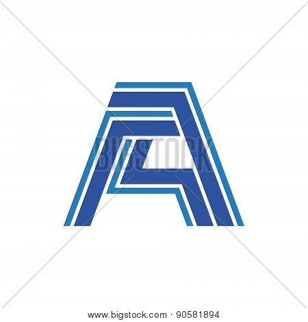 Letter A - vector logo concept illustration