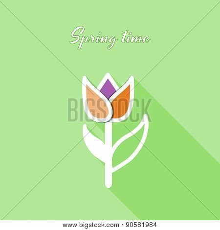 Flat Tulip Background
