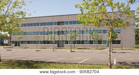 Modern Office Building Against A Nice Blue  Sky
