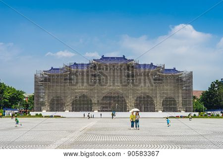 Chiang Kai-shek Memorial Hall during renovation