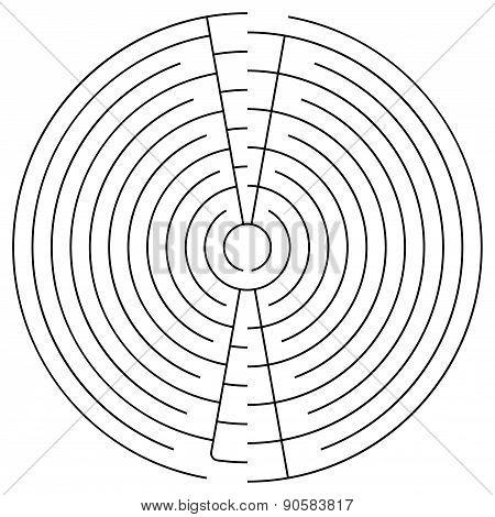 Black Round Maze