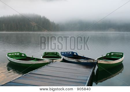 Boats On Misty Morning