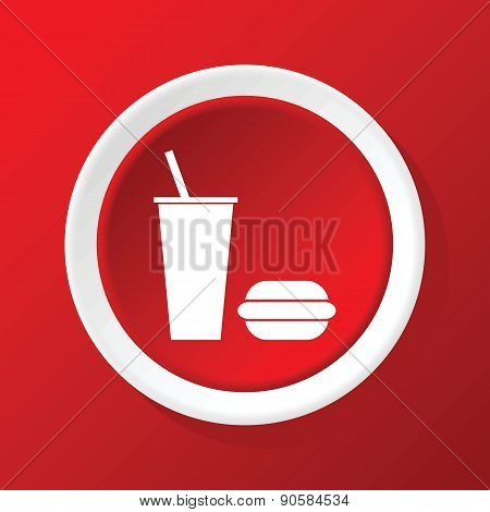 Fastfood icon on red