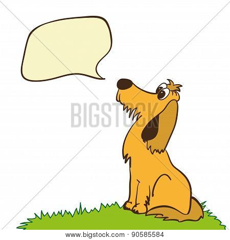 Cute Dog With Speech Bubble.