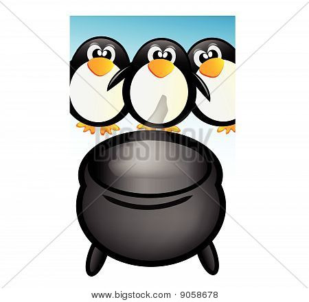 penguins and pot