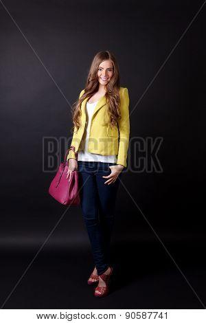 Happy Pretty Woman Standing