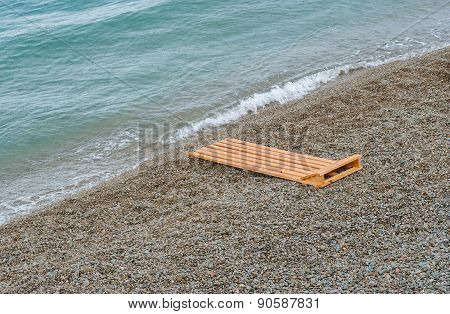 Empty Black Sea beach in Crimea