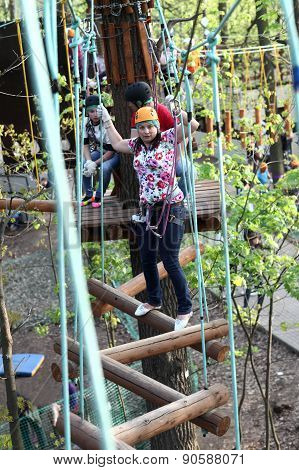 Family Training In Adventure Park