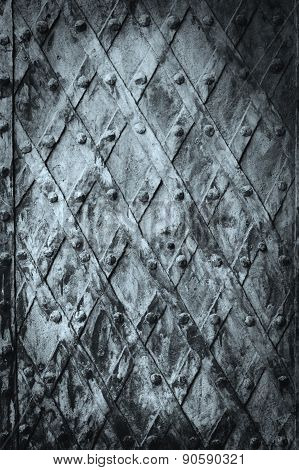 Metal Medieval Vintage Door Background