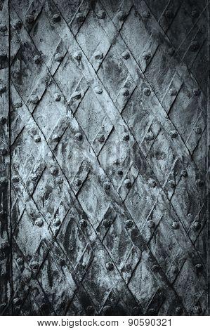 Metal Medieval Vintage Door Background