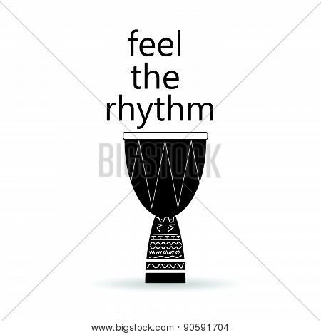 Feel The Rhythm Drum Vector Illustration