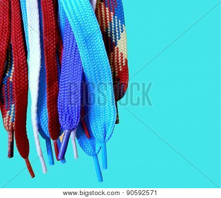isolated multicolored laces