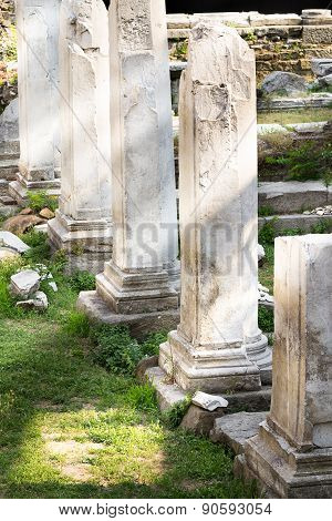Marble Pillars From Roman Empire City