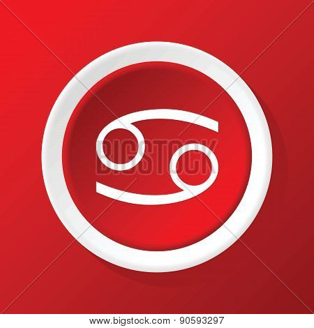 Cancer icon on red