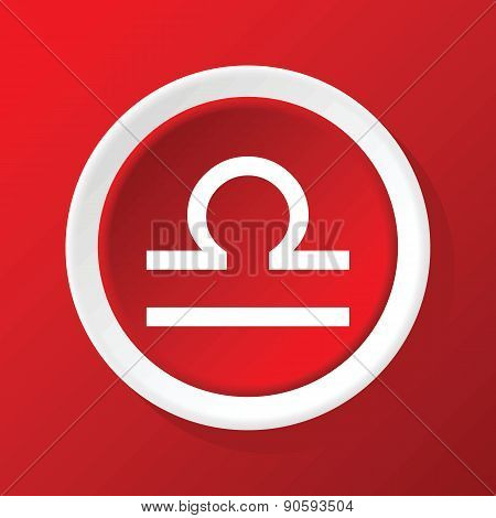 Libra icon on red
