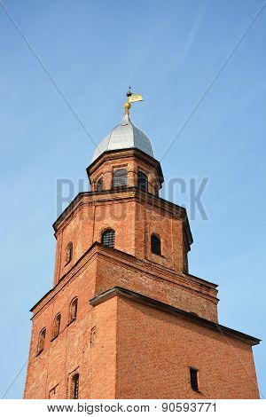 Kokuy Tower Of The Kremlin At The Veliky Novgorod