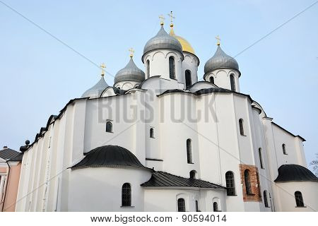 St. Sofia Cathedral In Veliky Novgorod, Russia