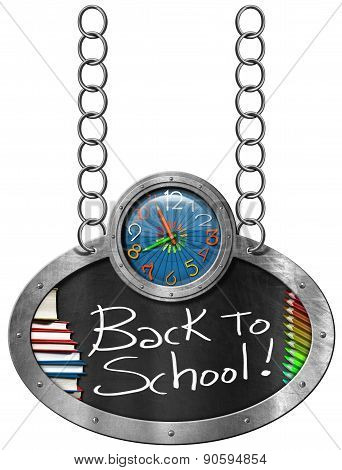 Back To School - Blackboard With Chain