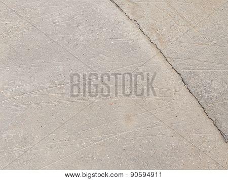 Gray Asphalt With Crack