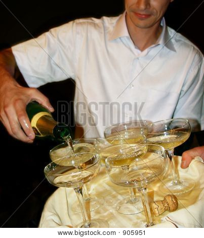 Champagne And Barman