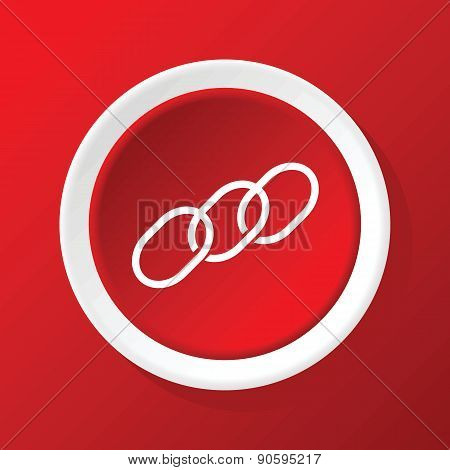 Chain icon on red
