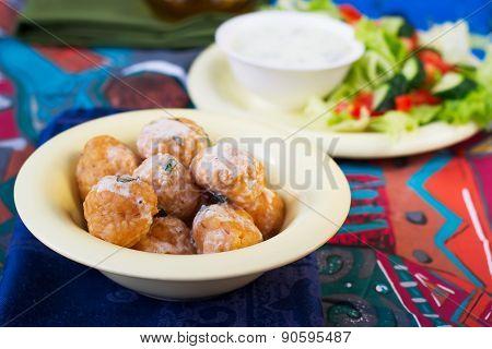 Meatballs From Bulgur.selective Focus