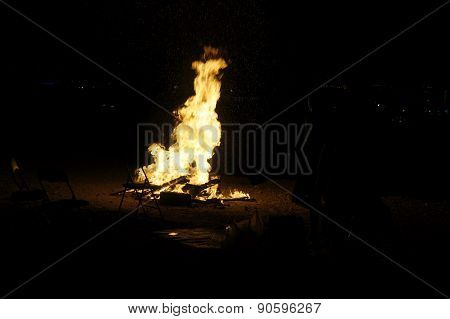 Big bonfire