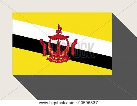 Brunei flag in flat web design style.