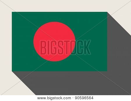 Bangladesh flag in flat web design style.