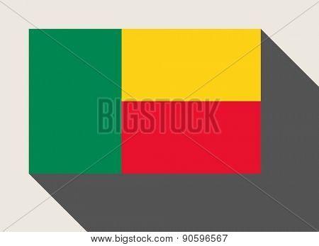 Benin flag in flat web design style.