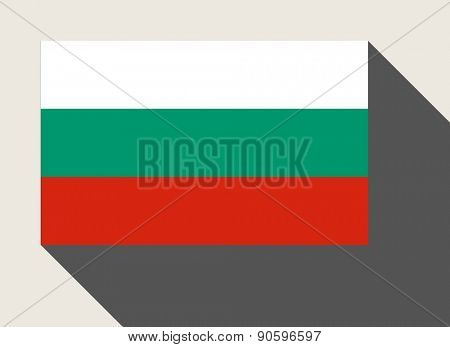 Bulgaria flag in flat web design style.