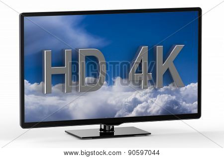 Television Set With Hd 4K