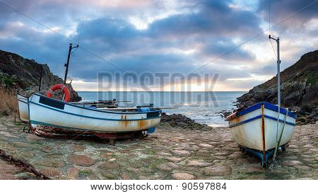 Fishing Boats At Penberth Cove