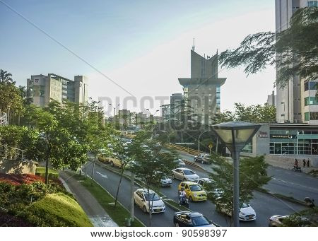 Day Urban Scene Of Medellin Colombia