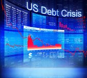 picture of crisis  - US Debt Crisis Economic Stock Market Banking Concept - JPG